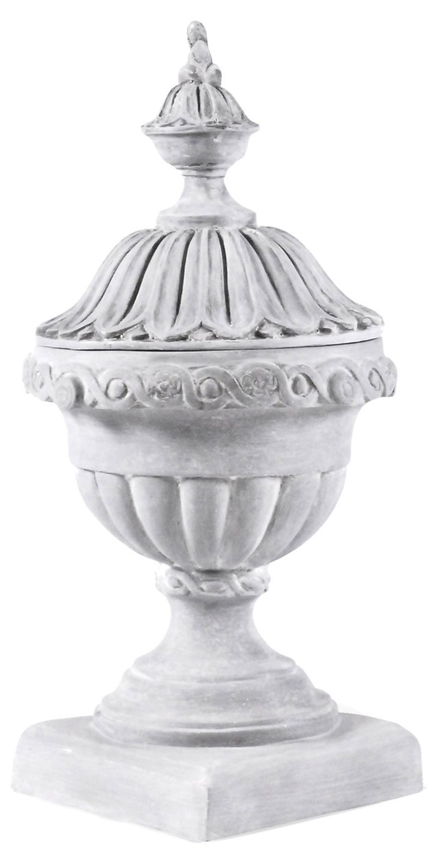 """37"""" Imperial Urn with Top, Gray"""