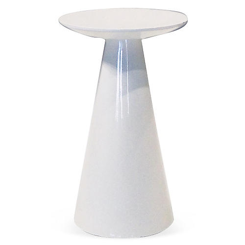 Tower Side Table, White