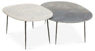 Mila Coffee Tables, Black/Gray   Coffee Tables   Living Room   Furniture   One  Kings Lane
