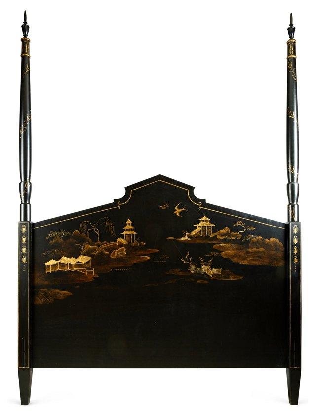 Chinoiserie Tall Post Headboard, Queen