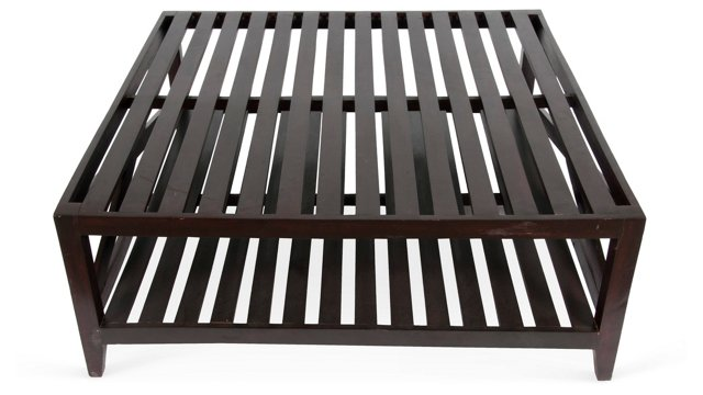 Anglo-Indian Slatted Table