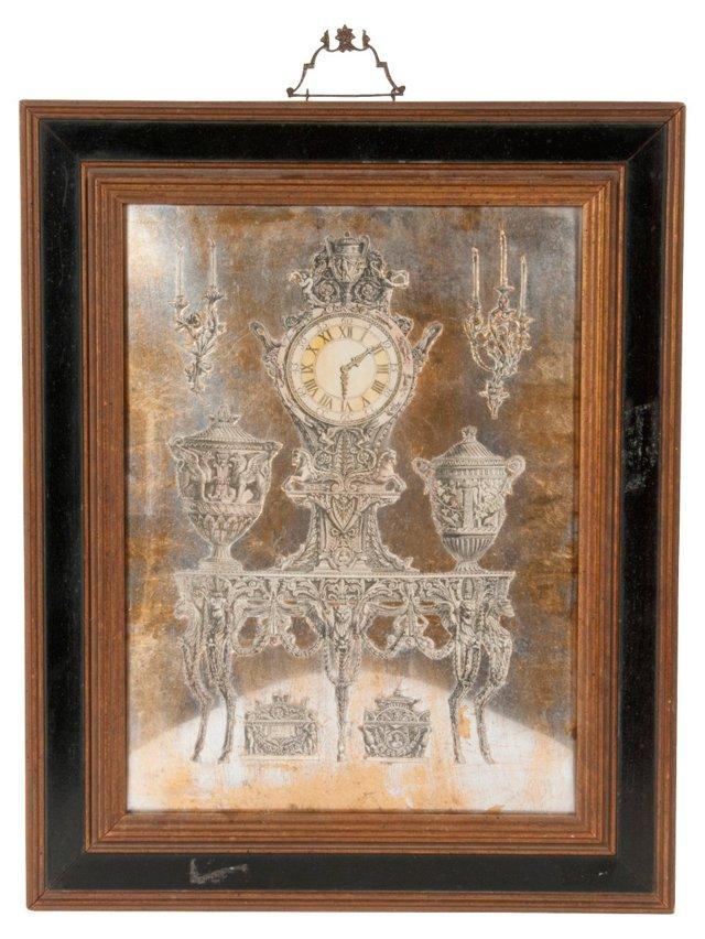 Antique Wall Clock Illustration