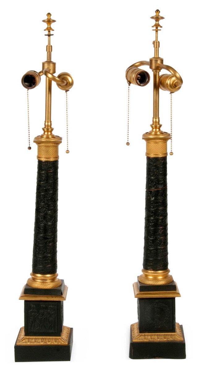 Grand Tour Lamps, Pair