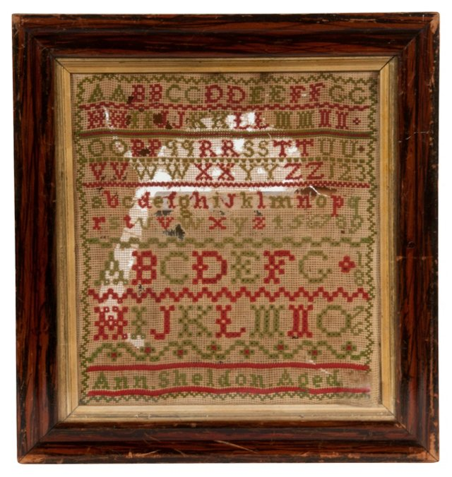 Antique Alphabet Needlepoint