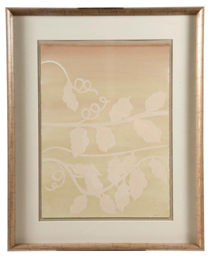 Framed Botanical Acrylic Painting
