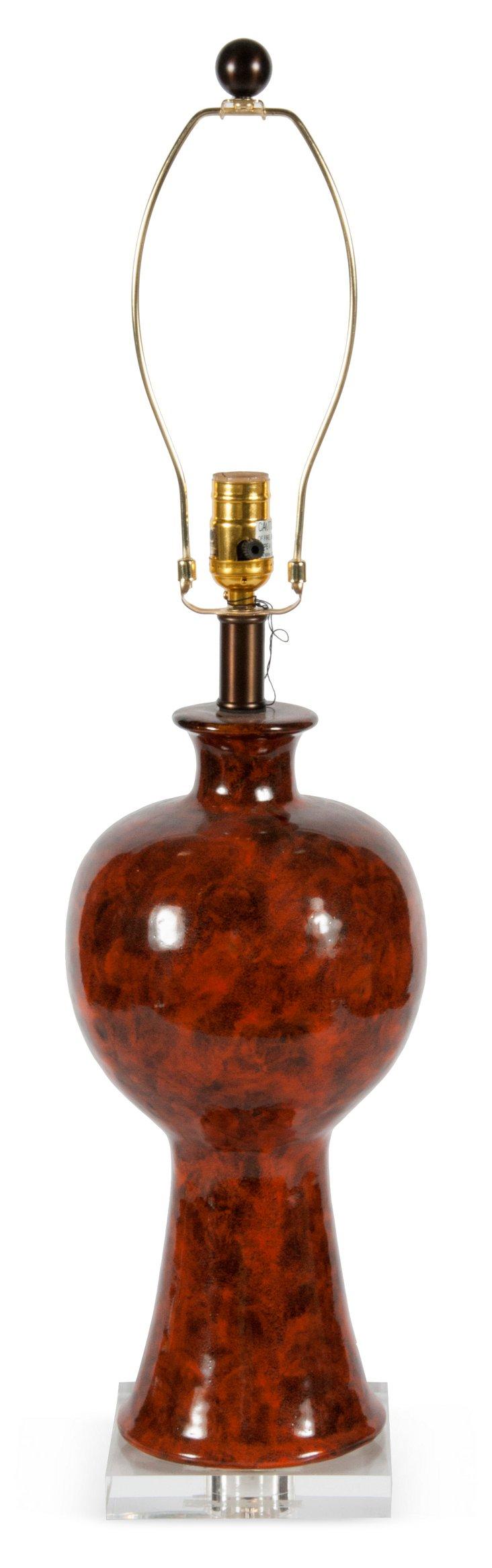 Amber Moderne Lamp