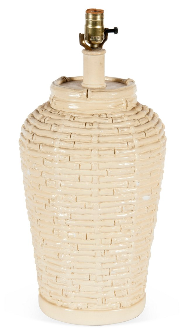Bamboo Basket-Weave Lamp