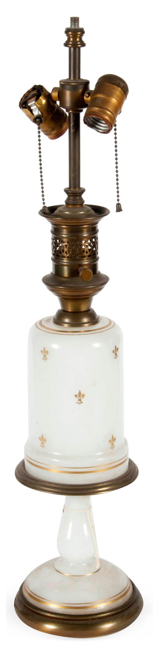 Antique Glass Lamp