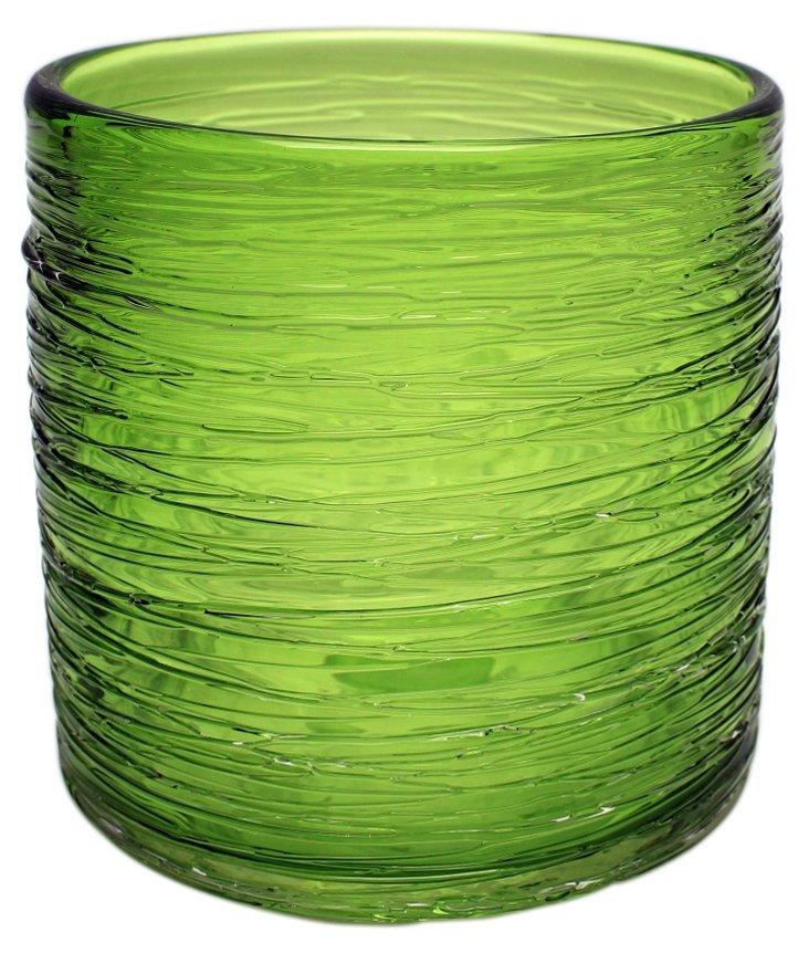 """5"""" Honaw Cylinder Vase, Green"""