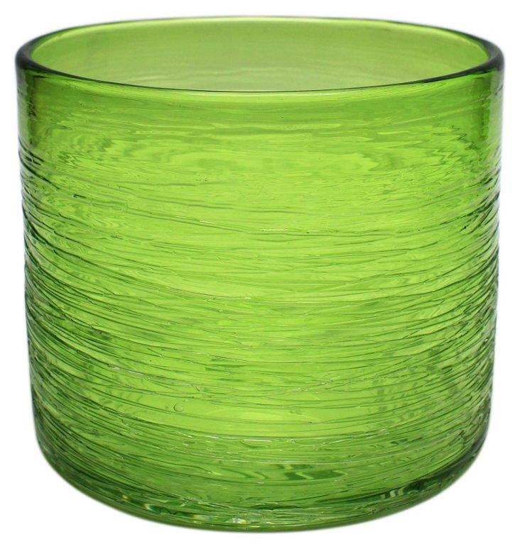 """6"""" Honaw Cylinder Vase, Green"""