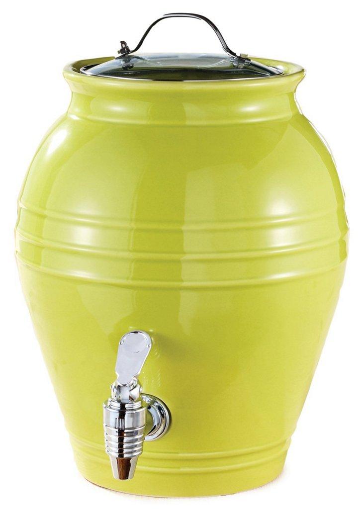 Honey Pot Beverage Dispenser, Green