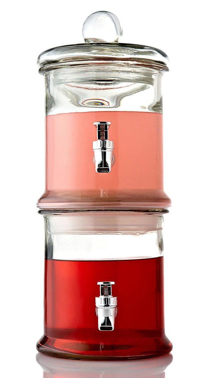 Double Glass Beverage Dispenser