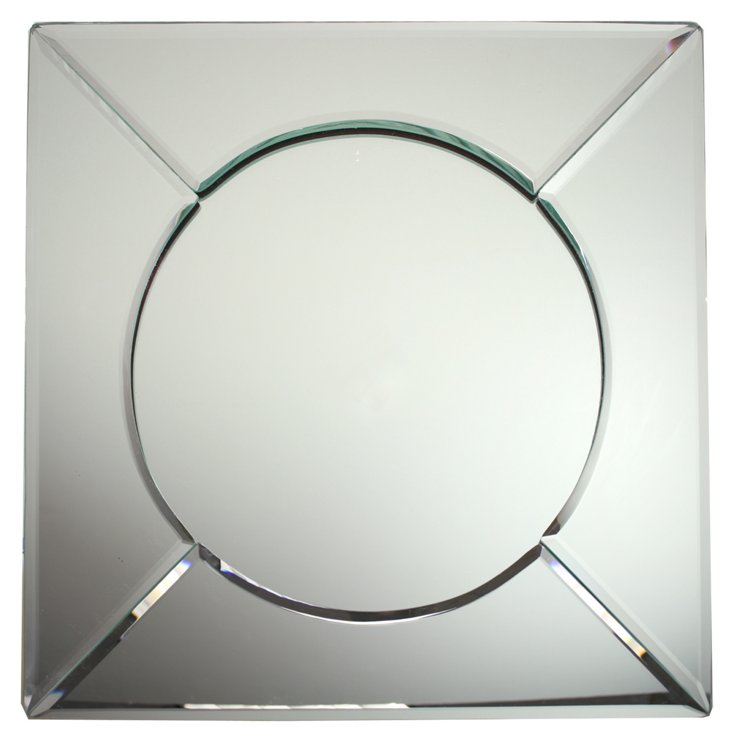Mirror Square Charger Plate