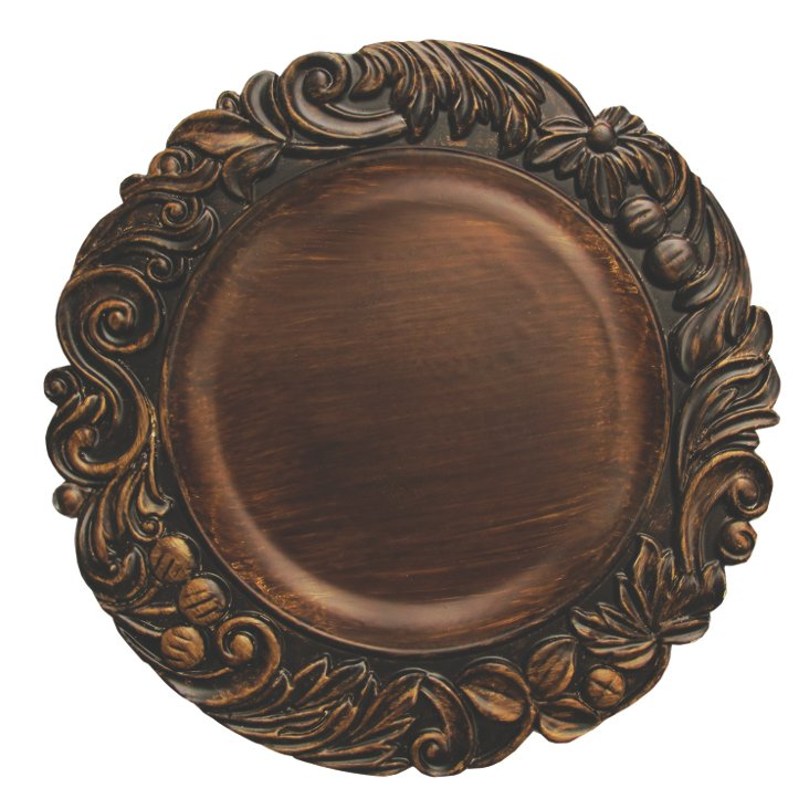 Aristocrat Charger Plate, Brown