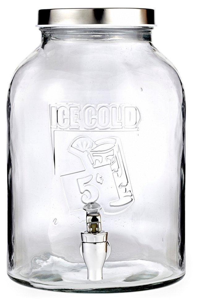 """Ice Cold"" Glass Beverage Dispenser"