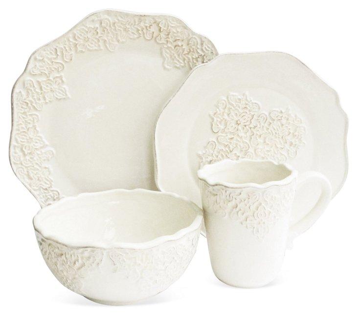 16-Pc Bianca Medallion Dinnerware Set