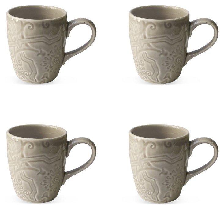 S/4 Labrinto Mugs, Gray