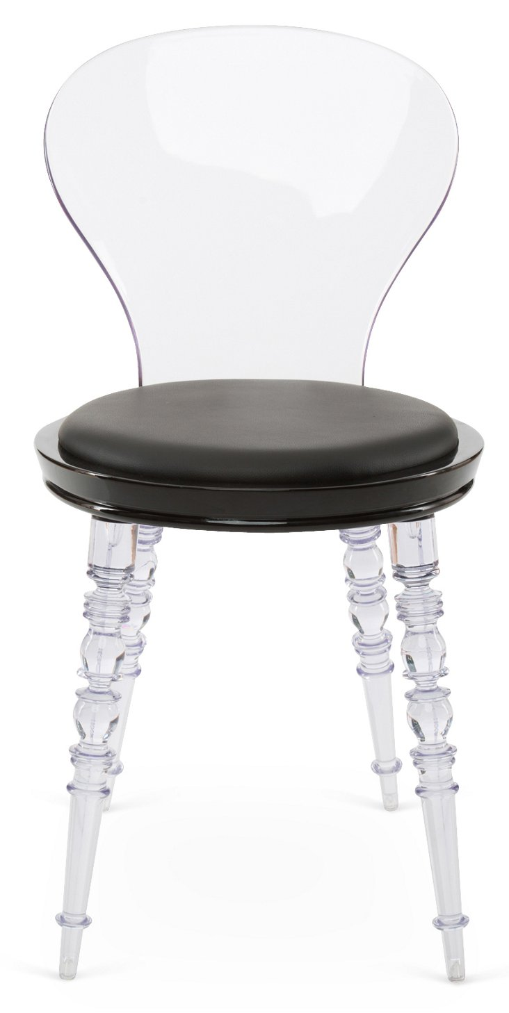 Finley Chair, Black/Clear