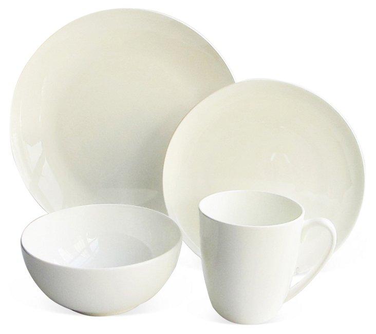 16-Pc Coupe Bone China Dinnerware Set