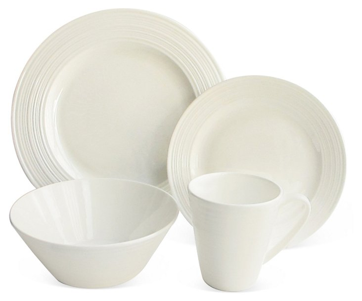 16-Pc Fusion Bone China Dinnerware Set