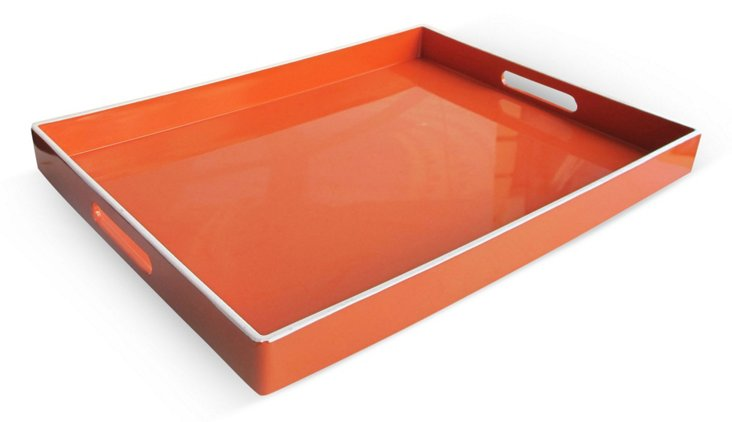 "19"" Essential Tray, Orange/White"