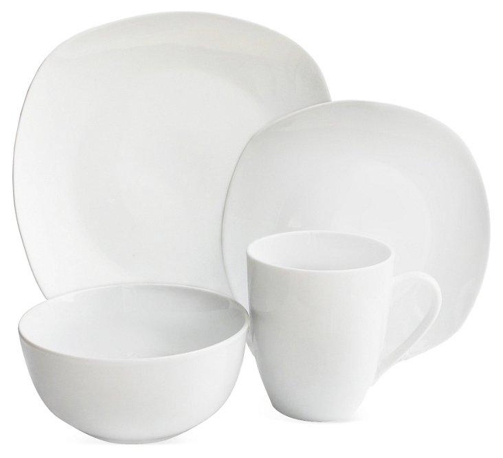 16-Pc Waverly Geometry Dinnerware Set