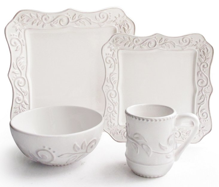 16-Pc Marselle Square Dinnerware Set