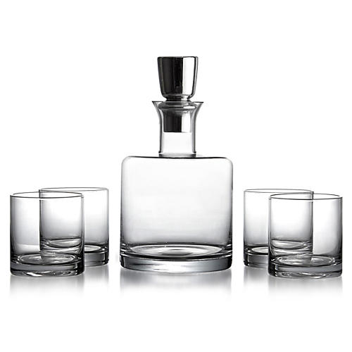 5-Pc Whiskey Set, Clear
