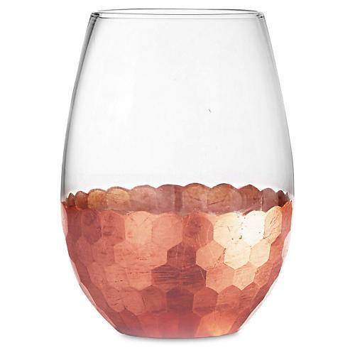 S/4 Daphne Stemless Glasses, Copper
