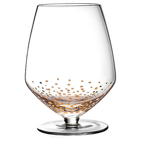 S/4 Luster Pinot Noir Wineglasses, Clear/Gold