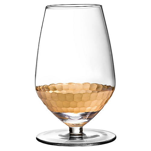 S/4 Daphne Sauvignon Wineglasses, Gold