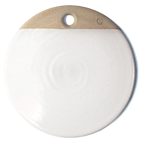 Round Cheese Stone, White
