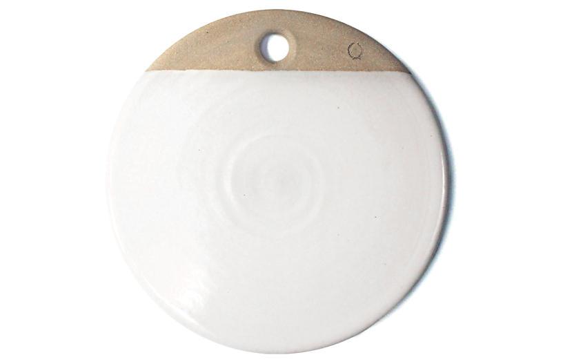 Round Cheese Stone, White