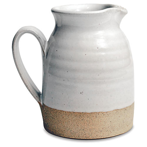 Bell Pitcher, Natural/White
