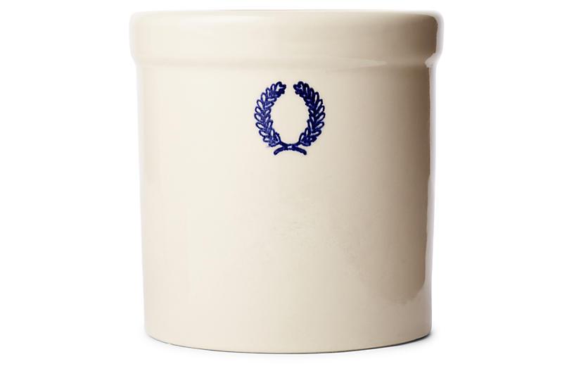 Laurel Jar, White