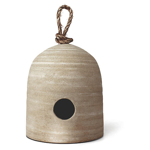"7"" Fieldstone Bird House, Natural"