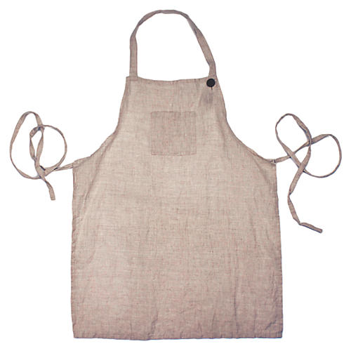 Washed Kids' Apron, Tan