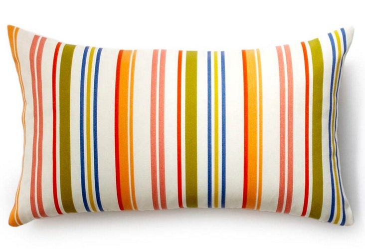 Jiti 12x20 Stripes Outdoor Pillow, Multi