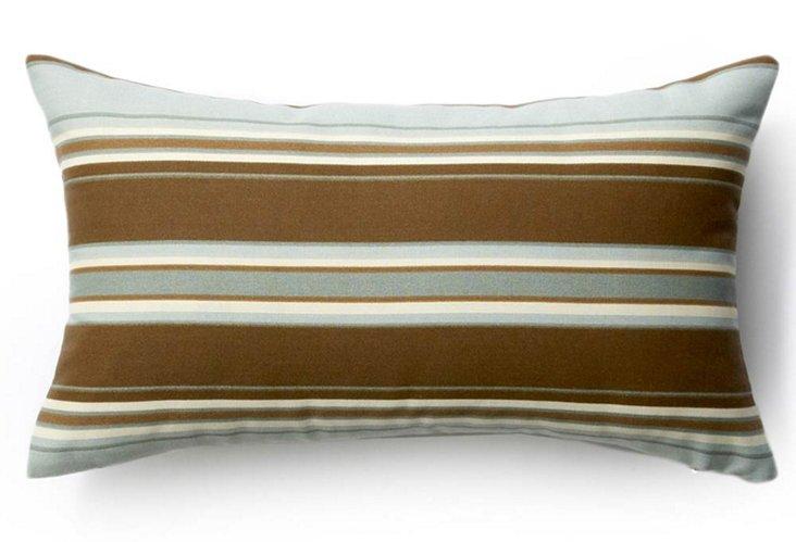 Stripes 12x20 Outdoor Pillow, Brown