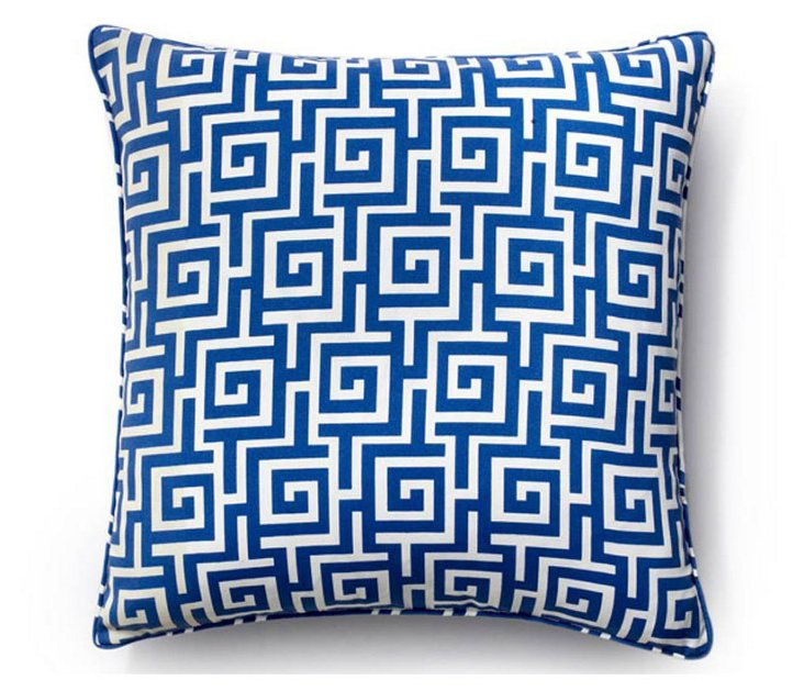 Puzzle 20x20 Outdoor Pillow, Blue