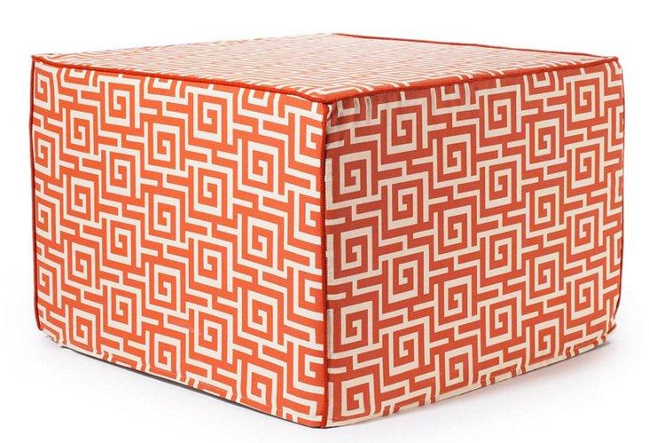 Puzzle Outdoor Pouf, Orange
