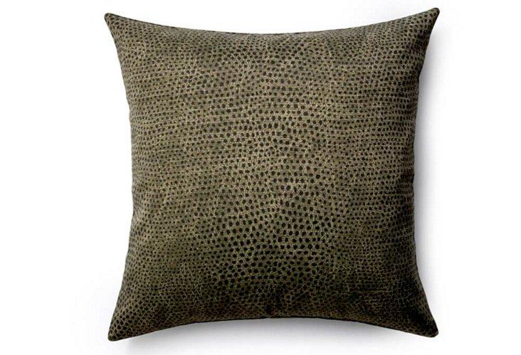 Cheetah 26x26 Outdoor Pillow, Ebony