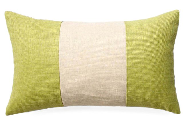 Pieces 12x20 Outdoor Pillow, Celery