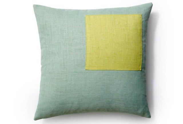 Pieces 20x20 Outdoor Pillow, Mint/Celery