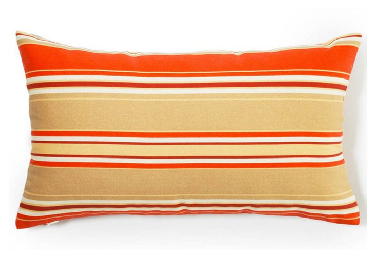 Stripes 12x20 Outdoor Pillow, Orange