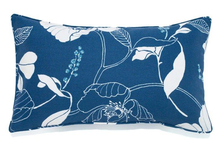 Poppy 12x20 Outdoor Pillow, Blue