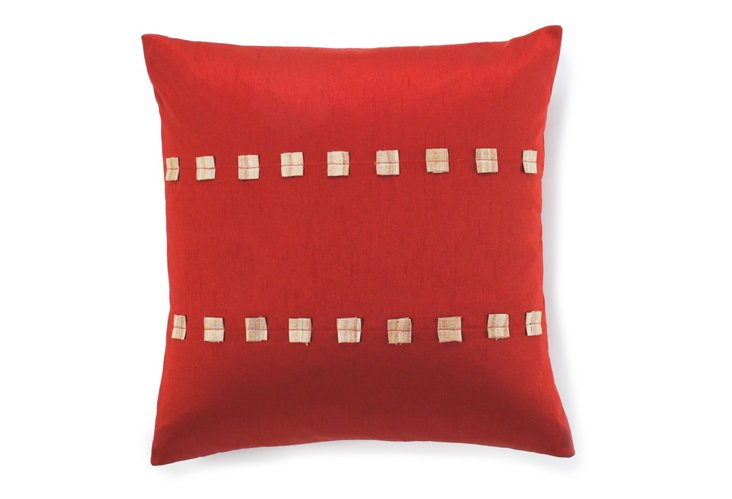 Dibbie 20x20 Pillow, Rust