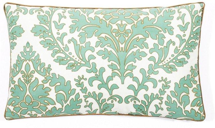 Leaves 12x20 Pillow, Aqua