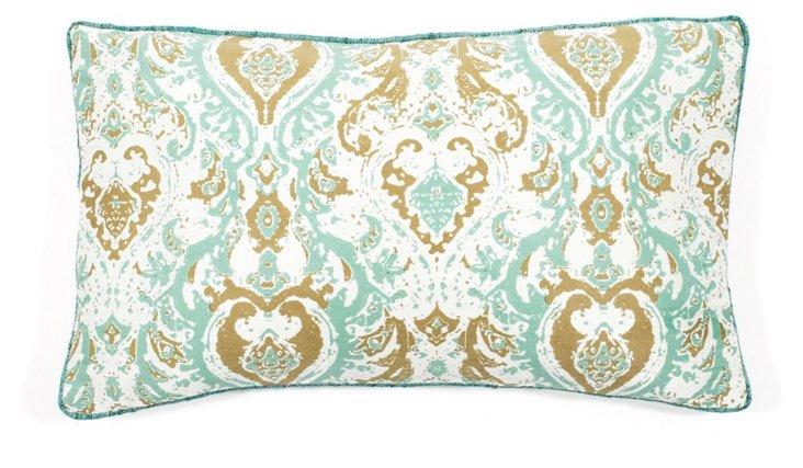 Turkey Crown 12x20 Pillow, Aqua