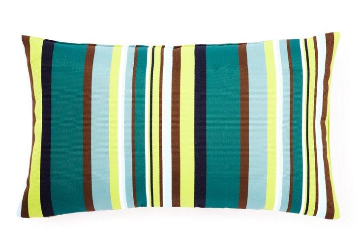 Aloe Stripes 12x20 Outdoor Pillow, Teal